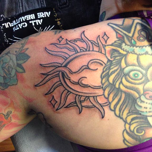 Will Self NH Tattoo Artist Boston Concord Worcester MA Trad Traditional Tattoos Neo-trad NeoTraditional neo-traditional amazing best tattoo artist New England Old School Japanese Americana American Tattooing Style sun clouds lion
