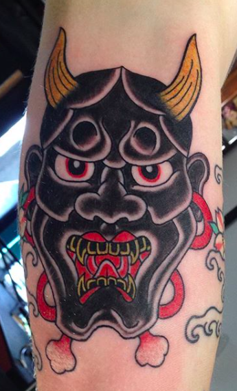 Will Self NH Tattoo Artist Boston Concord Worcester MA Trad Traditional Tattoos Neo-trad NeoTraditional neo-traditional amazing best tattoo artist New England Old School Japanese Americana American Tattooing Style mask