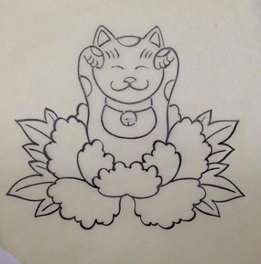 Will Self NH Tattoo Artist Boston Concord Worcester MA Trad Traditional Tattoos Neo-trad NeoTraditional neo-traditional amazing best tattoo artist New England Old School Japanese Americana American Tattooing Style neko lucky cat asian chinese