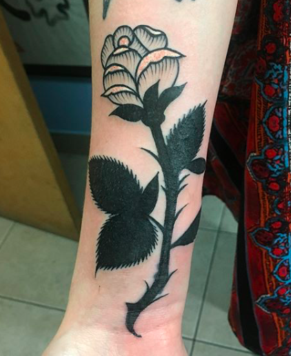 Will Self NH Tattoo Artist Boston Concord Worcester MA Trad Traditional Tattoos Neo-trad NeoTraditional neo-traditional amazing best tattoo artist New England Old School Japanese Americana American Tattooing Style black rose